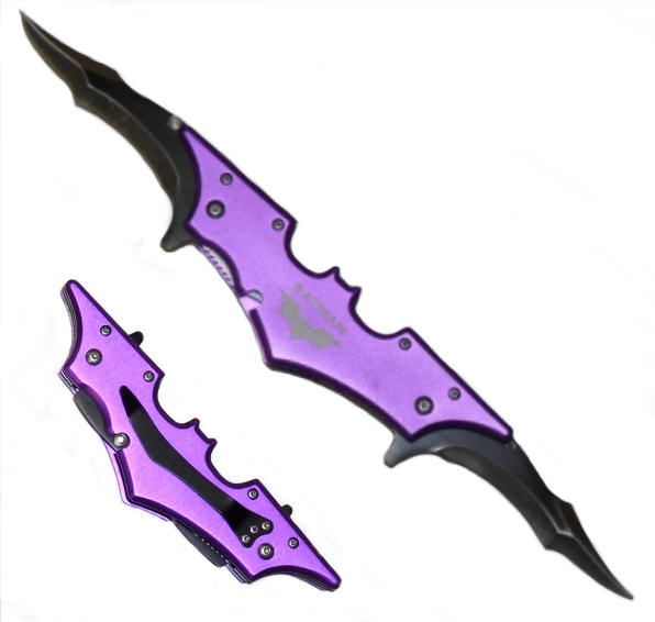 AO Purple BAT 2 blade Folding Knife 