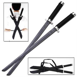 Ninja Assassin Strike Force Twin Swords Set and case