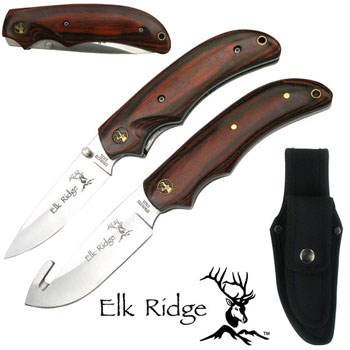 Elk Ridge Hunting Knife Combo Set - 8""