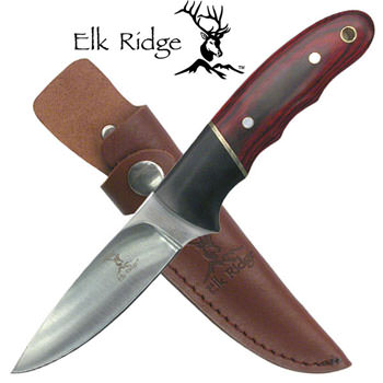 "Elk Ridge 7.5"" Pakkawood Fixed Blade Knife"