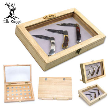 ELK RIDGE WOOD DISPLAY BOX