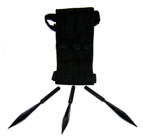 Ninja Shuriken Set 3 pieces and Sheath