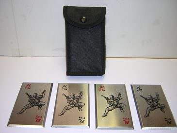 Fantasy Master 4 Piece Ninja Throwing Card Set