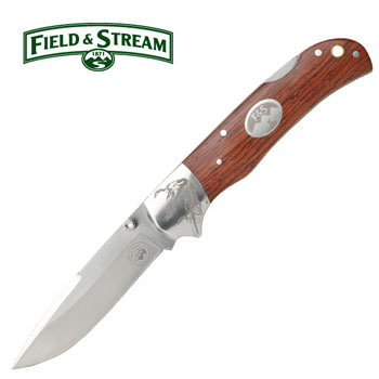 FIELD & STREAM Rose Wood Folding Geese Knife 7 3/4""