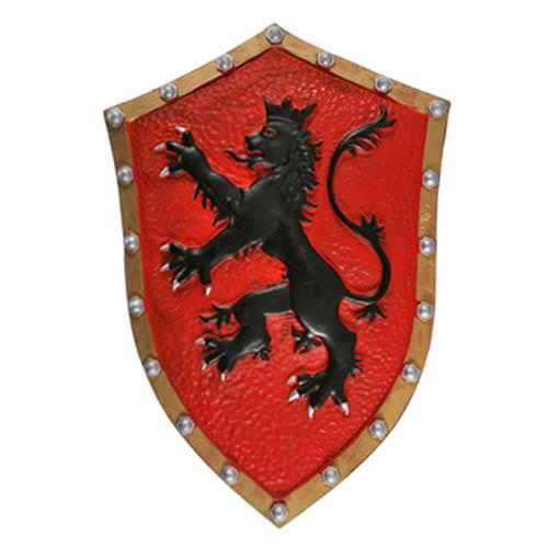Red Crusader Medieval Lion Heart Knight Foam Shield LARP 21""