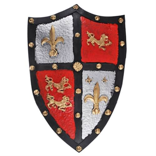 Medieval English Crest Knight Foam Shield LARP 20 1/2""
