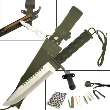 Hunting Survival Knife with Sheath 14""