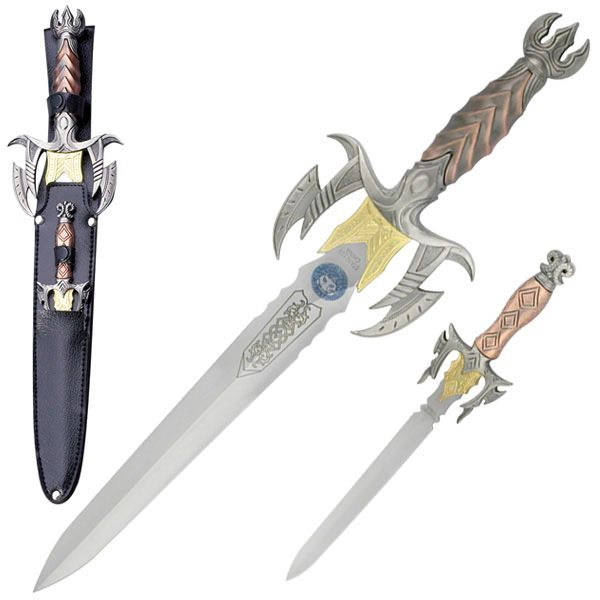 "Scorpion King Dagger 2 Piece Set 10"" & 17"""