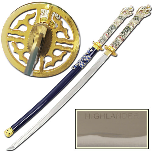 Highlander Blue Open Mouth Katana Sword