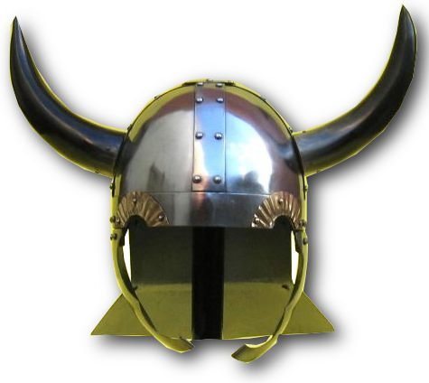 Horned viking helmet- real buffalo horns.