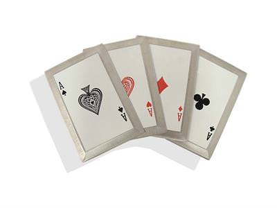 4 Aces Steel Poker Cards