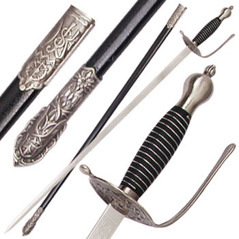 Renaissance Free Mason Dress Sword Rapier 38 1/2""