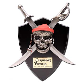 Pirates Of The Caribbean Daggers & Wall Display
