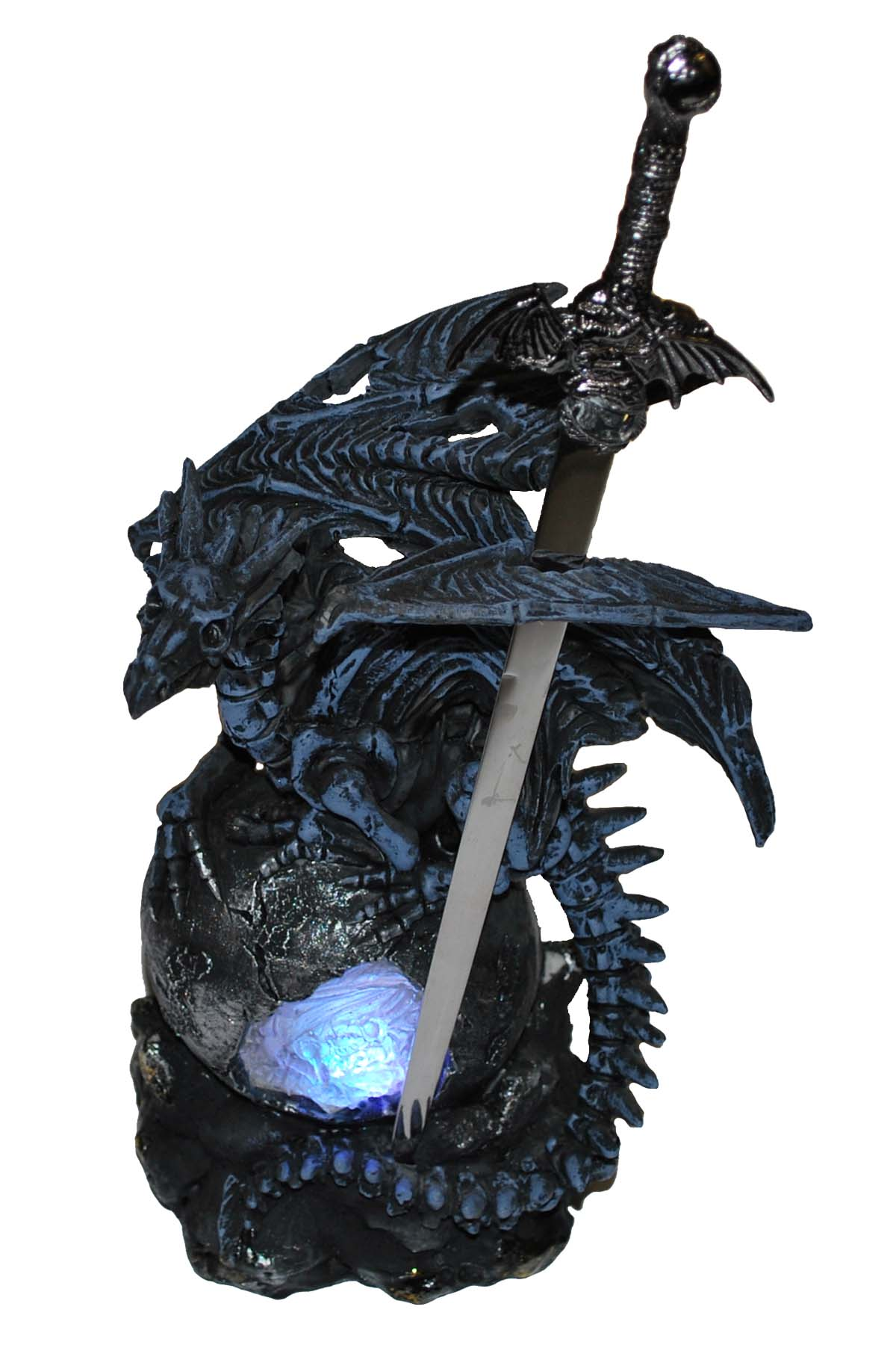 Evil Dragon Letter Opener with LED 10""