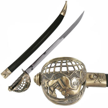 Pirate Sword & Scabbard 30""