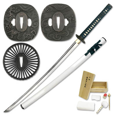 Handforged Sword - Disassembled - White Katana 40""