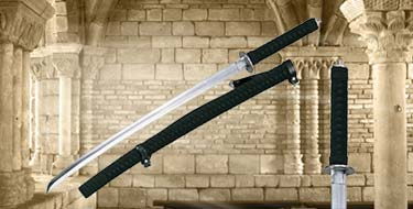 Functional Katana Swords with Matching Hardwood Scabbard 38""