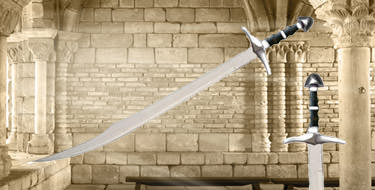 Medieval Falchion Scimitar Swords and Scabbard 30""