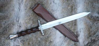 Medieval War Dagger and Sheath 20""