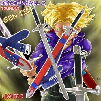 Dragon Ball Z Deluxe TRUNKS 42&quot; Sword GEN III w/Sheath