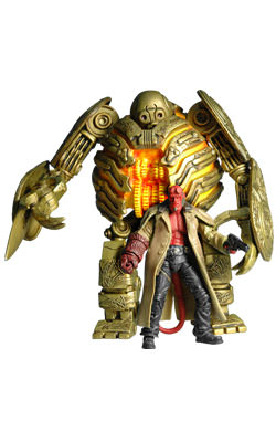 "Hellboy 3 3/4"" and Golden Army Soldier 7"" Figure"