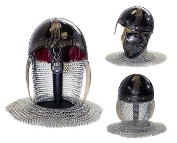 Medieval Helmet with Chain mail