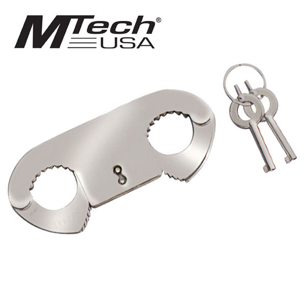 Mtech Thumb Cuffs with Keys - Stainless steel construction