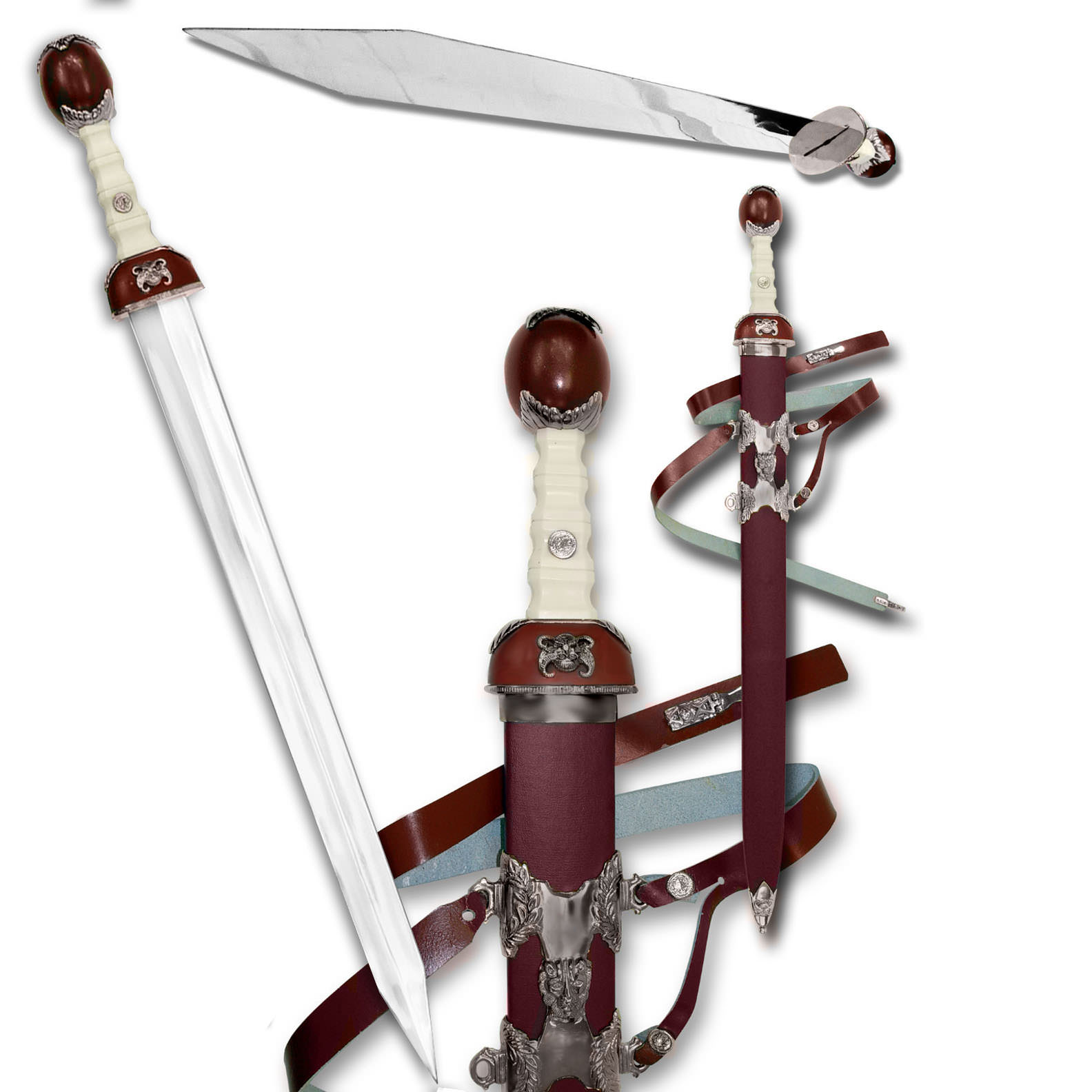 Burgundy Gladiator Sword 39""