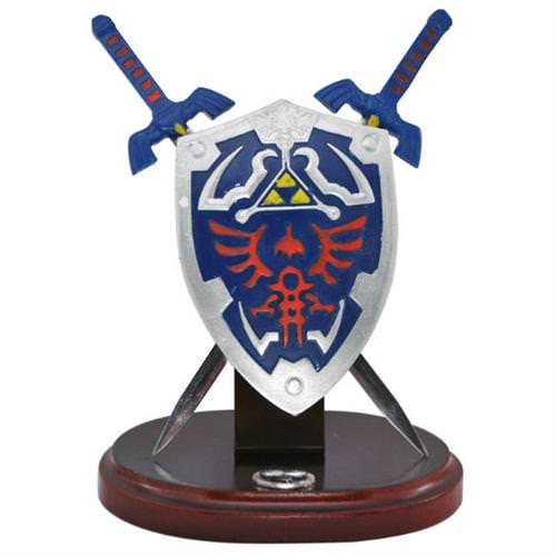 Zelda Hylian Letter Opener Shield & Sword Table Top Set 8""