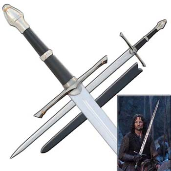 "Strider Sword from Lord of the Rings 43 3/4"" LOTR"