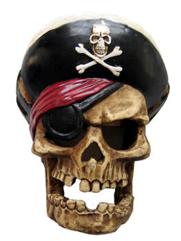 Pirate skull sword holder