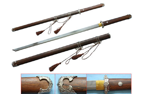 Chinese Tang Dao and Scabbard 41""