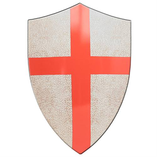Medieval Crafted Templar Knights Red Cross Crusader Shield 24""