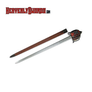 Basket-Hilt Broadsword Antiqued