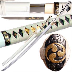 Zetsurin Katana Handmade Samurai Sword White 39 1/4&quot;