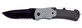 Maxam® Liner Lock Knife Faux Carbon Fiber Liner Lock Knife 8 1/4""