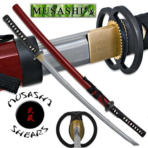 Musashi - Practical Daimyo Samurai Sword Full Tang Red 40""