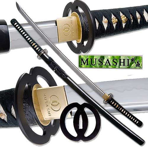 Musashi - Practical Daimyo Samurai Sword Full Tang Black 40&quot;