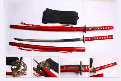 Musashi Hand Forged Samurai Sword Red