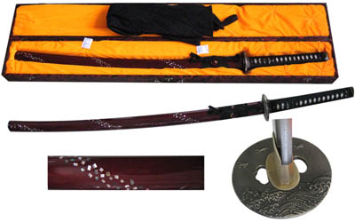 Musashi Handmade Sword Samurai Katana Mother of Pearl 39""