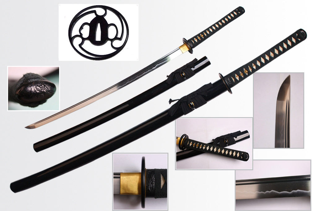 Musashi Swords 1060 Carbon Shirakawa Katana 39""