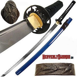 Musashi Bamboo Katana Blue Saya