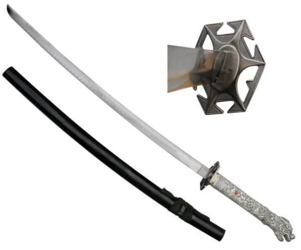 Highlander Open-Mouth Dragon Katana 41 1/2""