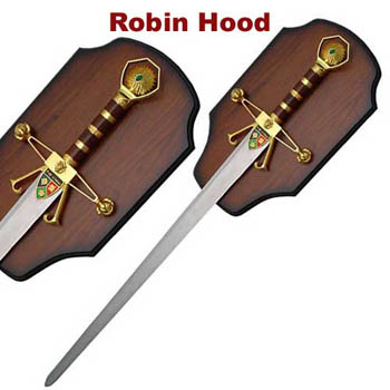 Robin Hood- Gold w/plaque