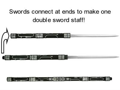 Double Ended Sword Staff 46&quot;