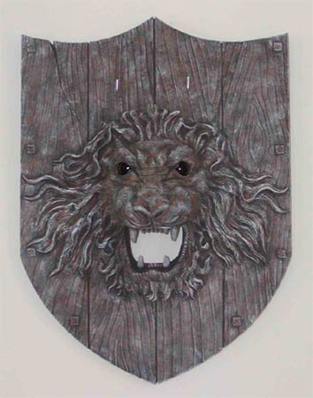 Lion Head Sword Plaque Wall Display Holder