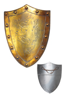 Medieval Golden Shield with Griffin 24x 17