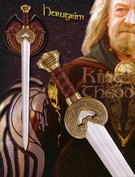 The Lord of the Rings King Theoden of Rohan Sword Herrugrim LOTR 36 1/2""
