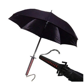 Bleach Ichigo Tensa Samurai Sword Handle Umbrella 40&quot;