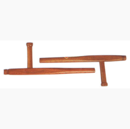 Set of Oak Tonfa (2 pieces) Red 18""